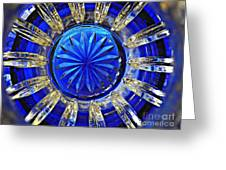 Glass Abstract 590 Greeting Card