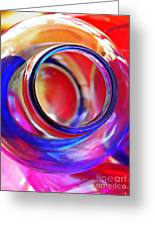 Glass Abstract 592 Greeting Card