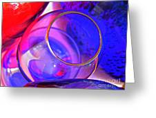 Glass Abstract 594 Greeting Card
