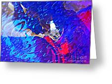 Glass Abstract 597 Greeting Card