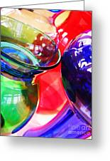 Glass Abstract 618 Greeting Card