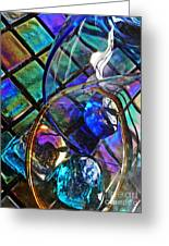 Glass Abstract 690 Greeting Card