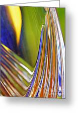 Glass Abstract 743 Greeting Card