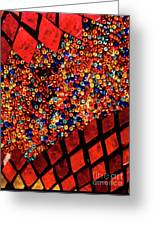 Glass And Beads Greeting Card