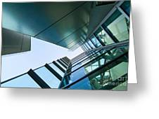 Glass And Metal - Walt Disney Concert Hall In Downtown Los Angeles Greeting Card