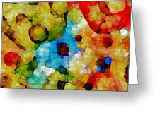 Glass Art Abstract Greeting Card