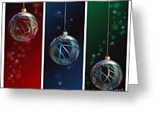 Glass Bauble Banners Greeting Card