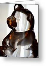 Glass Bear Greeting Card