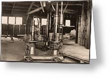Glass-blowing Machine, 1908 Greeting Card