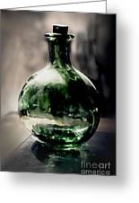 Glass Bottle Greeting Card by Danuta Bennett