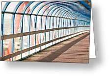 Glass Covered Walkway Greeting Card