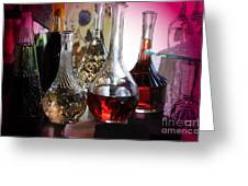 Glass Decanters And Glasses Greeting Card