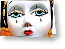 Glass Eyes Greeting Card