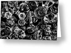 Glass Knobs - Bw Greeting Card