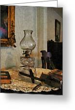 Glass Lamp And Stereopticon Greeting Card
