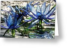 Glass Lilies Greeting Card