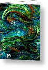 Glass Macro Abstract 13e7 Greeting Card