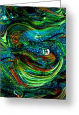 Glass Macro Abstract 13e7a Greeting Card