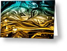 Glass Macro Abstract Rbwce Greeting Card by David Patterson