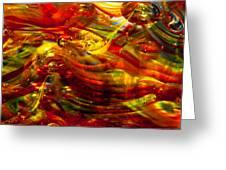 Glass Macro - Burning Embers Greeting Card