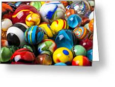 Glass Marbles Greeting Card by Garry Gay