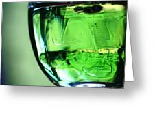 Glass Of Green Greeting Card