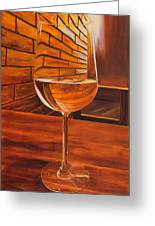 Glass Of Viognier Greeting Card