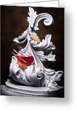 Glass Of Wine With Cork Still Life Greeting Card