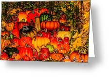 Glass Pumpkins Greeting Card