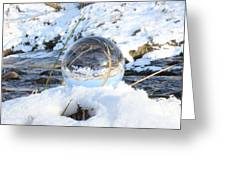 Glass Sphere Snow Landscape Greeting Card