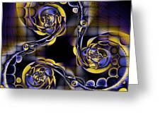 Glass Spirals Greeting Card