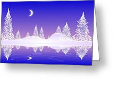 Glass Winter Greeting Card