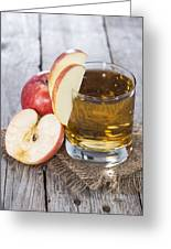 Glass With Apple Juice Greeting Card