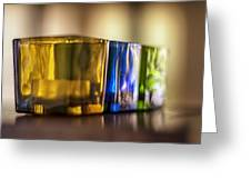 Glasses Of Light Greeting Card by Georgia Fowler