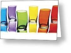 Glasses-rainbow Theme Greeting Card