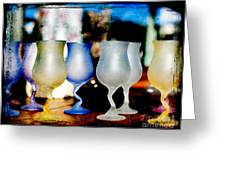 Glassware Greeting Card by Bobbi Feasel