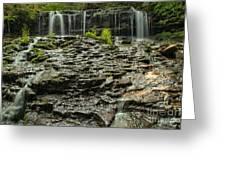 Glassy Rocks At Mohawk Greeting Card