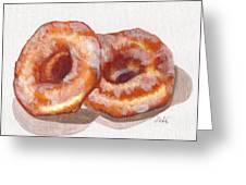 Glazed Donuts Greeting Card by Debi Starr