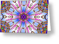 Gleaming Flower Bands Greeting Card