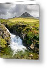Glen Brittle Waterfall Greeting Card