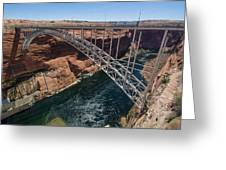 Glen Canyon Dam Bridge Greeting Card