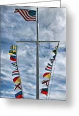 Glen Cove American Flag Greeting Card