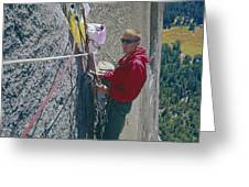 T-306607-glen Denny With Me On El Cap First Ascent 1962 Greeting Card