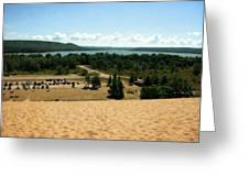 Glen Lake From The Dune Climb Greeting Card