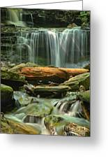 Glen Leigh River Rocks And Falls Greeting Card