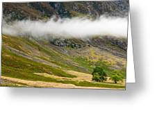 Misty Mountain Landscape Greeting Card