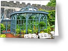 Glenveagh Garden Gazebo - Irish Art Greeting Card