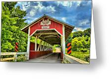Glessner Covered Bridge Greeting Card
