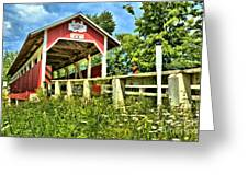 Glessner Wooden Bridge Greeting Card