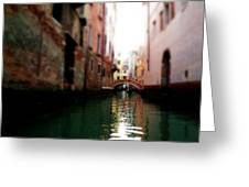 Gliding Along The Canal  Greeting Card